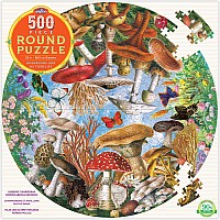 500 pc Mushrooms and Butterflies Round Puzzle
