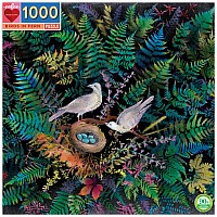 Birds in Fern - 1000 Piece Puzzle