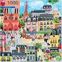 1000 pc Paris in a Day Rectangle Puzzle