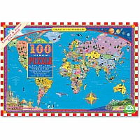 World Map 100 pc Puzzle E