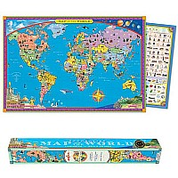 World Map - Laminated Paper