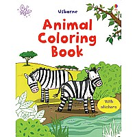 Animal Coloring Book with stickers