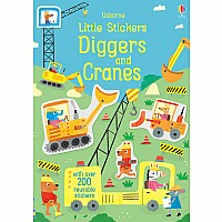 Little Stickers Diggers And Cranes