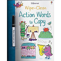 Action Words To Copy Wipe-clean