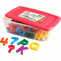 AlphaMagnets & MathMagnets Combo Set - Jumbo Multicolored (100 pieces)