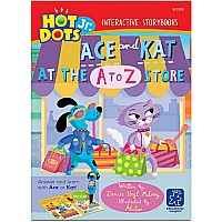 Hot Dots Jr. Interactive Storybooks, Ace And Kat At The A To Z Store, Set Of 6