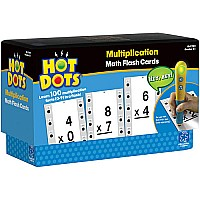 Hot Dots Math Flash Cards Multiplication