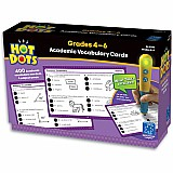 Hot Dots Academic Vocabulary Cards  4-6