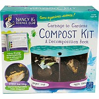 Nancy B's Science Club Garbage To Gardens Compost Kit & Decomposition Book