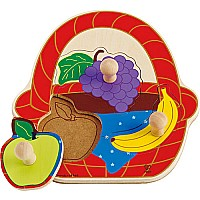 Hape Fruit Basket Knob Puzzle