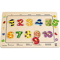 Hape Numbers Matching Peg Puzzle
