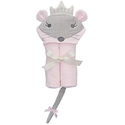 a741b6968f5c7 Elegant Baby Bath Time Gift Hooded Towel Wrap, Pink Mousie Princess ...
