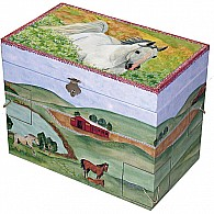 Hide Away Horse Music Box