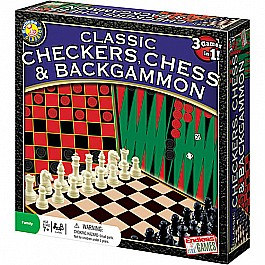 Checkers, Chess  Backgammon