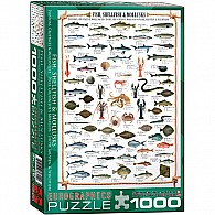 Fish Shellfish Mollusks 1000-Piece Puzzle