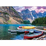 1000pc Canoes on the Lake