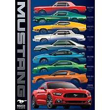 Automotive Evolution Charts - Ford Mustang 50 Years