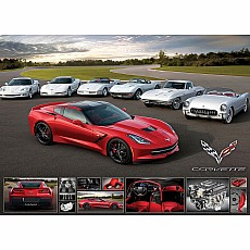 Vintage Car Ads & Cruisin' Series Puzzles - It Runs in the Family -2014 Corvette Stingray