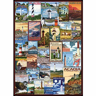 Lighthouses - Vintage Art Collage
