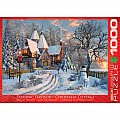 Christmas Cottage 1000-Piece Puzzle