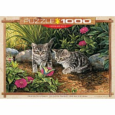 Double Trouble Kitten 1000-Piece Puzzle