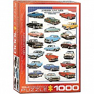 American Cars of the Fifties 1000-Piece Puzzle
