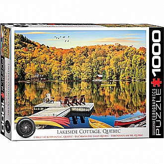 HDR Photography Puzzles - Lakeside Cottage, Quebec