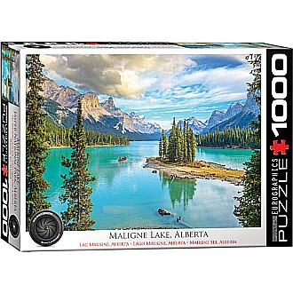 HDR Photography Puzzles - Maligne Lake, Alberta