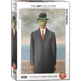 Surrealism Puzzles - Son of Man by Rene Magritte