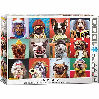 Funny Animals Puzzles - Funny Dogs by Lucia Heffernan