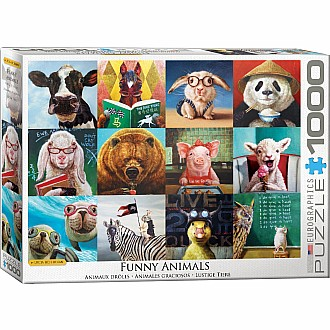 Funny Animals Puzzles - Funny Animals by Lucia Heffernan