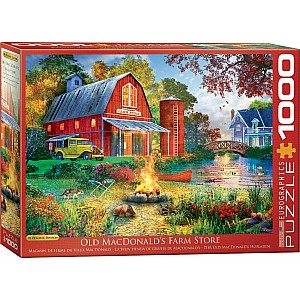 1000 PC Scenery Puzzles - Campfire by the Barn by Dominic Davison