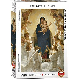 Virgin with Angels by William Bouguereau 1000-Piece Puzzle