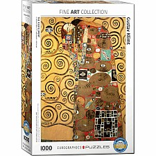 The Fulfillment by Gustav Klimt 1000-Piece Puzzle