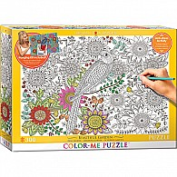 Beautiful Garden 300-Piece Color-Me Puzzle