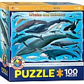 100 Piece Charts for Kids - Whales & Dolphins