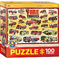 Fire Trucks 100-Piece Puzzle