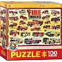 100 Piece Charts for Kids - Fire Trucks