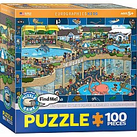 Crazy Aquarium Spot & Find 100-Piece Puzzle
