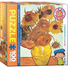 Fine Art for Kids Puzzle - Twelve Sunflowers by Vincent Van Gogh