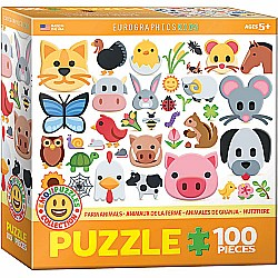Emojipuzzles for Kids - Farm Animals Emojipuzzles 100pc