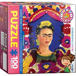 Fine Art for Kids Puzzle - Self Portrait The Frame - Frida Kahlo