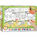 Farm 100-Piece Color-Me Puzzle