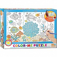 Aquarium 100-Piece Color-Me Puzzle