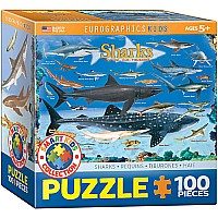 Sharks 100-Piece Puzzle