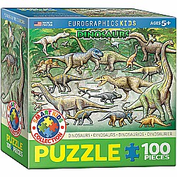 Dinosaurs 100-Piece Puzzle (small box)