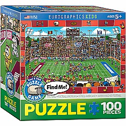 Football Spot & Find 100-Piece Puzzle (small box)