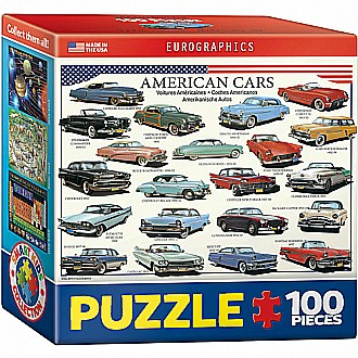 American Cars of the Fifties 100-Piece Mini Puzzle
