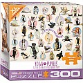 300 pc - XL Puzzle Pieces - Yoga Puppies