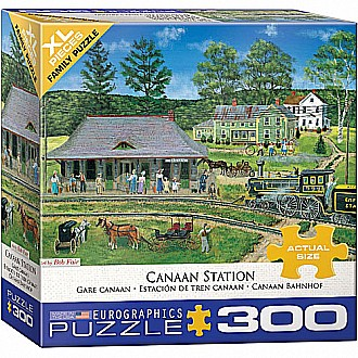 300 pc - XL Puzzle Pieces - Canaan Station by Bob Fair